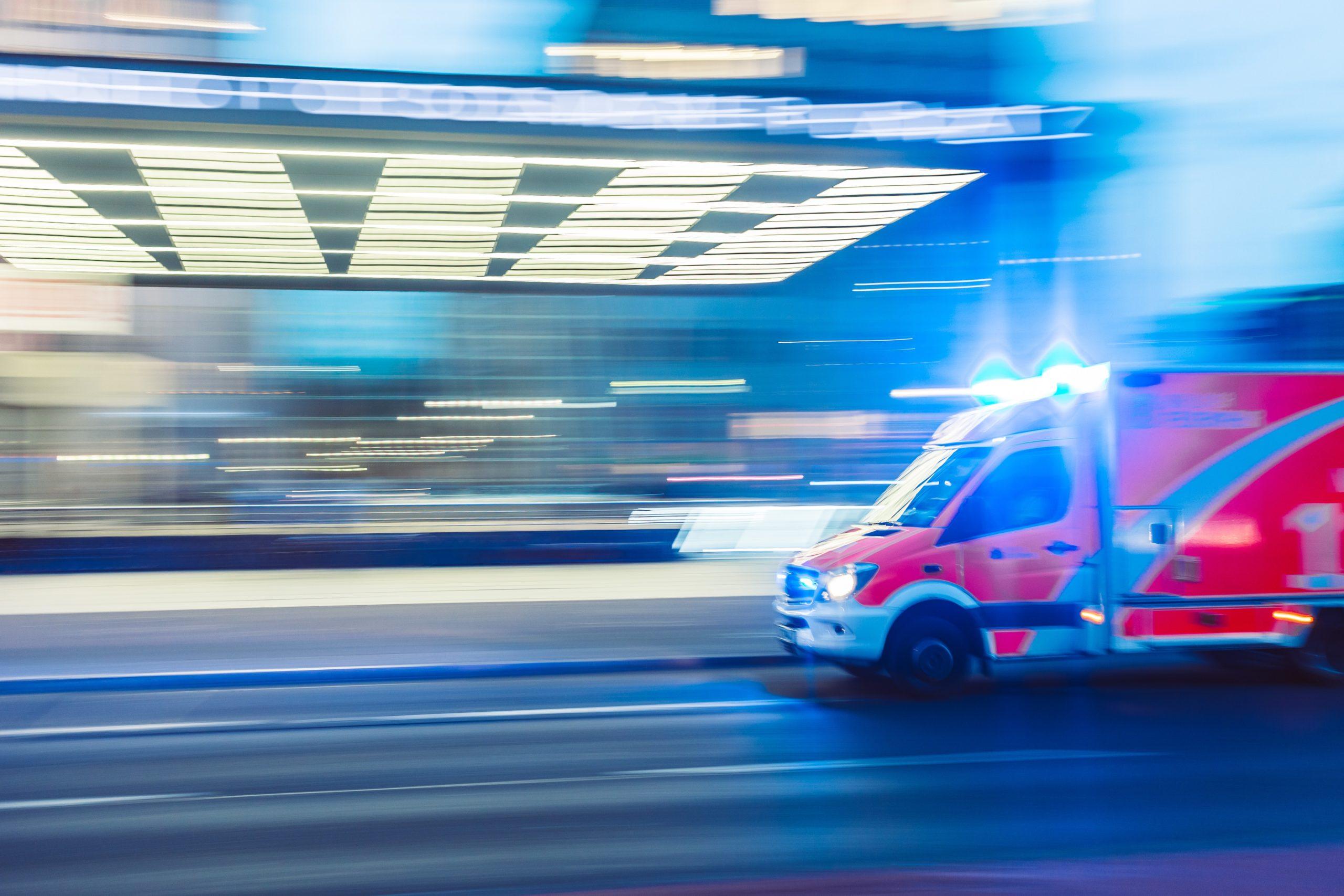 Photo 'un camionne pompier pour illustrer l'urgence d'une prise en charge lors d'un AVC